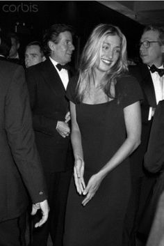 """""""Carolyn Bessette attends the fund-raiser at the Marriott Marquis ballroom. Calvin Klein and Tommy Hilfiger can be seen in the background. John Kennedy Jr, Jfk Jr, Jacqueline Kennedy Onassis, Les Kennedy, Carolyn Bessette Kennedy, Caroline Kennedy, John Junior, Fashion Pictures, Fashion Ideas"""