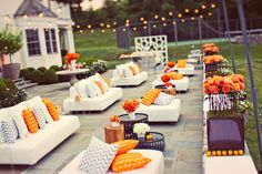 A beautiful outdoor wedding lounge space. Photography by Les Loups via Alchemy Fine Events #weddinglounge #summerwedding