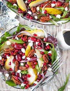 A gorgeous and delicious winter salad, perfect for serving during the holidays and special occasions.