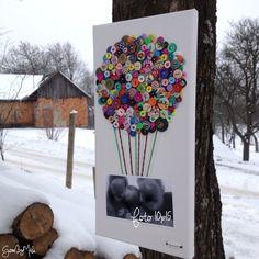 Gombíkový obraz - Balón s fotkou