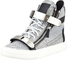 aec32e8a35c7 Giuseppe Zanotti Men s Printed Zip  amp  Buckle High-Top Men s Sneakers   Old school