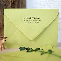 Custom Address Stamp - Wood Handle - Cute bridesmaid birthday or housewarming gift  - 1016. $21.95, via Etsy.