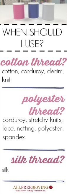 What Types of Thread to Use: A Guide | AllFreeSewing.com