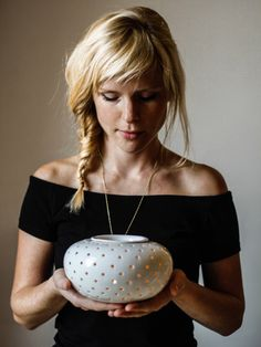 Large aromatherapy diffuser/ oil burner/ tea light holder/ candle holder/ ceramic vessel by OlisCupboard on Etsy https://www.etsy.com/listing/130033295/large-aromatherapy-diffuser-oil-burner