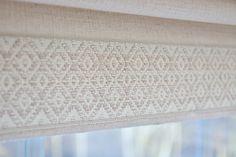 Chatham Trim with Malbec Fabric Roman Shade #romanshades