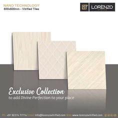 The Exclusive Collection. Add divine perfection to your space with Millennium Tiles.  Millennium Tiles 600x600mm (24x24) Brilliante Petalite Soluble Salt Porcelain #Tiles Series