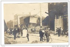 RP; Main Street , Bldg destroyed by Gas Explosion , BRANTFORD , Ontario , Canada , 1908