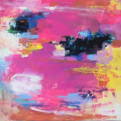 """Electric"" 16x16"" Amira Rahim - abstract canvas"