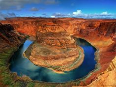 """""""The U"""" - Horseshoe Bend of the Colorado River just after a snowstorm - Page, AZ"""
