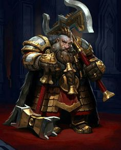 Dwarf Fighter - Pathfinder PFRPG DND D&D d20 fantasy