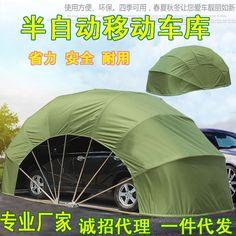 China Solar Powered Retractable Car Garageportable Garage Carport