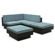Outdoor Furniture - Parkview 5-Piece Patio Sectional Set – Blue