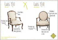 Como diferenciar os dois estilos de mobiliário.