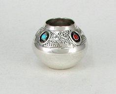 Navajo sterling silver seed pot