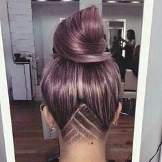 Cute Bun With Shaved Nape by ℒαtinα ℱαsh ღ | We Heart It
