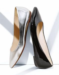 J.Crew Flats. I don't wear a lot of flats but metallic and pointy toes? Amazing