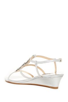 Carley Embellished Wedge Sandal - Wide Width Available by Badgley Mischka on @nordstrom_rack