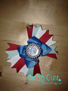 A personal favorite from my Etsy shop https://www.etsy.com/listing/246685252/chevron-faith-hairbow-babygirl-headband