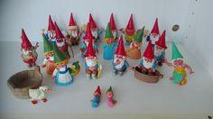 20 pcs David the gnome  pvc figure  - Vintage , David de kabouter, rien poortvliet, 1980s by MetalmanEd on Etsy