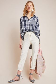 With a comfortable fit and pockets to spare, these cargo pants are a fashionable favorite. Jean Jacket Outfits, Anthropologie Clothing, Flowy Pants, Cargo Pants, Spring Outfits, Outfit Summer, Lace Shorts, Clothes, Spring Trends