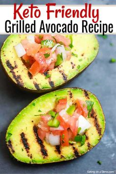 Easy Grilled Avocado Recipe has the most amazing flavor. This recipe is so simple to prepare and absolutely delicious. Plus, it is keto friendly! Grilled Avocado, Keto Avocado, Avocado Recipes, Keto Recipes, Healthy Recipes, Healthy Food, Vegetarian Food, Great Recipes, Favorite Recipes