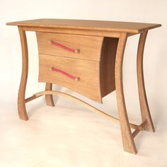 Jangles Made as a set with the Bill Bojangles chair this table is made from oak with ostrich hide handles and drawer linings Hide, Oak, Table, Drawers, Timber, Chair, Furniture, Bespoke Furniture, Home Decor