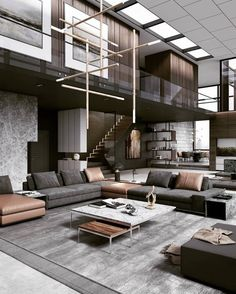 Swipe left and enjoy this warm and stylish interior design! 😍💛 Tag an Architecture Lover! d_signers ____ Design and Visualized by… 344595808988510306 Living Room Sets, Rugs In Living Room, Living Room Designs, Living Room Decor, Dining Room, Curtains Living, Contemporary Interior Design, Modern House Design, Home Interior Design