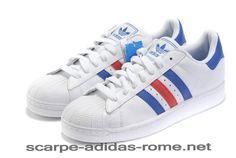 new style 0cd75 d84b9 Adidas Superstar II (Blu Rosse Bianche) G50974 Uomo Donna Scarpe (Adidas  italia)