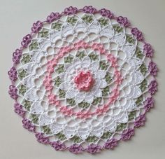 Same doily as above with the flower center