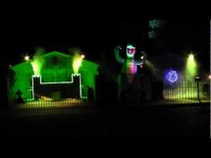 "▶ 2012 Halloween Light Show ""O Fortuna - Bark at the Moon"" - YouTube"