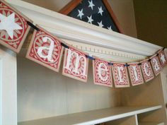 America Garland Banner For The 4th Of July Banner and Decoration. $17.00, via Etsy.