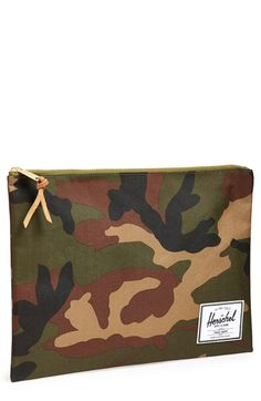 Herschel Supply Co. 'Network - XL' Pouch at Nordstrom.com. A durable camo-print canvas pouch in a slim, compact style is designed to house a small electronic tablet device or keep your important documents safe Christmas Presents For Men, Document Safe, Important Documents, Novelty Ties, Herschel Supply Co, Camo Print, Compact, Pouch, Nordstrom