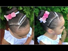 PEINADO PARA NIÑA CON TRENZAS Y ENCINTADO CORBATIN|LPH - YouTube Kids Braided Hairstyles, Princess Hairstyles, Little Girl Hairstyles, Competition Hair, Braids For Kids, Chic Baby, First Communion, Cornrows, Little Princess