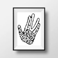 Star Trek hand sign cross stitch pattern