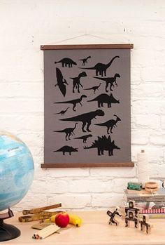 Dinosaur Canvas Print Wall Hanging