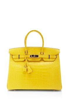 Hermes 35Cm Birkin In Mimosa Matte Alligator by Heritage Auctions Special Collections for Preorder on Moda Operandi