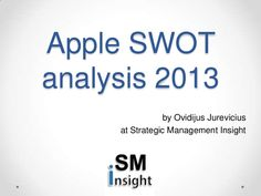 apple-swot-analysis-2013-by-strategic-management-insight-17724095 by Ovidijus Jurevičius via Slideshare