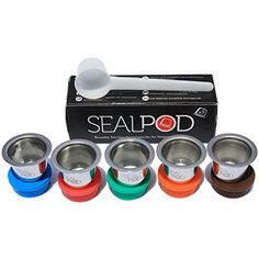 reusable nespresso compatible capsules new sealpod 5 pack safe stainless steel refillable nespresso