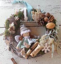Türkränze - NATUR♥Engelchen♥ Türkranz Weihnachtskranz Shabby - ein Designerstück von kranzkunst bei DaWanda