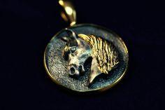 Arabian Horse sterling silver Antique locket animal