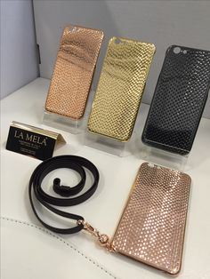 LA MELA COVER , The New  concept luxury iPhone cases  18 kt gold plated , Yellow /white / Rose / Black  GOLD ! HANDMADE in ITALY   fashion