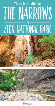 18 Helpful Tips for the Zion Narrows Hike with kids (or without kids) Exploring the Utah National Parks by hiking the amazing trails is one of the most beautiful travel experiences.  Tips for making the most of The Narrows, sites to see, what to pack, how to get there and more.  If you love adventure, you'll want these hikes as part of your Bucket Lists.    #Utah #Hiking #familytravel #ZionNationalPark #nationalparks #adventuretravel