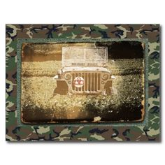 sold ! Vintage Style #Military Jeep Postcard shipping to  Norcross, GA