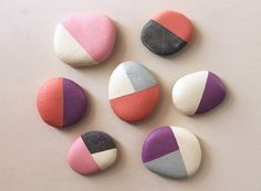 Need a project with the kids this weekend? Try hand-painting smooth stones in Spring pastels -- they look great!
