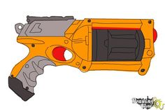 Nerf Gun Coloring Page From Misc Toys And Dolls Category