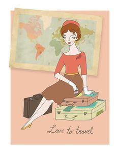 Travel Girl by bunnydee on Etsy