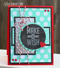 Stampin' Anne: Chalkboard Birthday for Paper Players #177