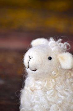 Lamb - White wool needle felted Sheep - needle felted animals