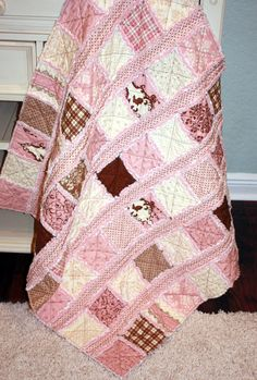 Stripped Rag Quilt Pattern