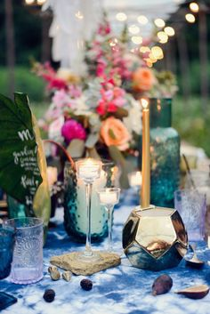 Midsummer Night's Soiree Dinner Party Tablescape featured on CAMILLE STYLES design by BURKE | DESIGN + PLANNING photo by ALEA MOORE